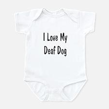 I Love My Deaf Dog Infant Creeper