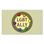 Ally Baubles -LGBT- Rectangle Sticker 50 pk)