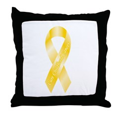 Childhood Cancer Throw Pillow