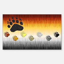 FURRY BEAR PRIDE FLAG/PRIDE PAWS Decal