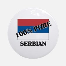 100 Percent SERBIAN Ornament (Round)