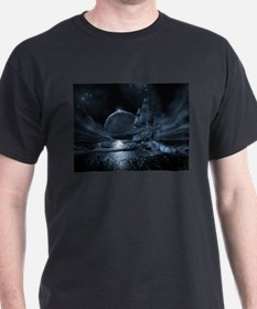 Ghost ship series: Full moon rising T-Shirt