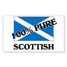 100 Percent SCOTTISH Rectangle Decal