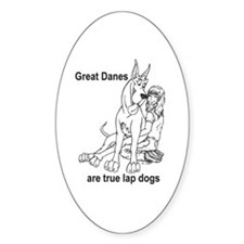 C Lapdog Great Dane Oval Decal