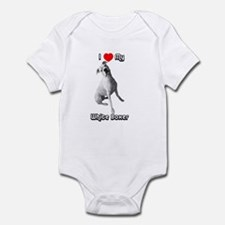 I Heart My White Boxer Infant Creeper