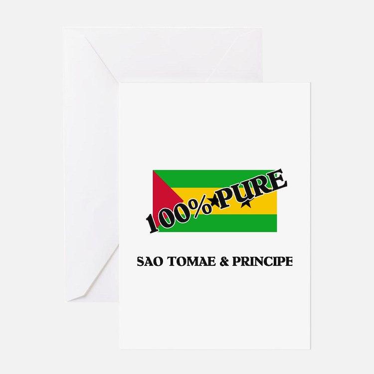 100 Percent SAO TOMAE & PRINCIPE Greeting Card
