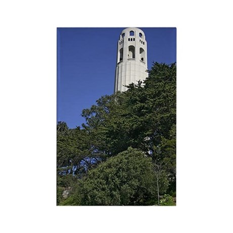 Coit Tower on Telegraph Hill Rectangle Magnet (100