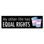 My Other Life Trans Bumper Sticker (10 pk)
