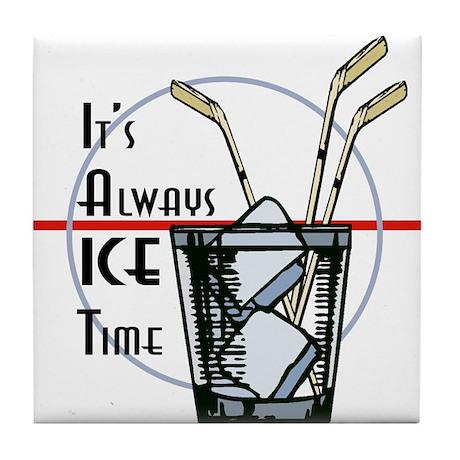 Ice Time Tile Coaster