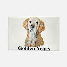 Golden Retriever Dog Portrait Rectangle Magnet