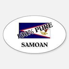 100 Percent SAMOAN Oval Decal
