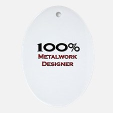 100 Percent Metalwork Designer Oval Ornament