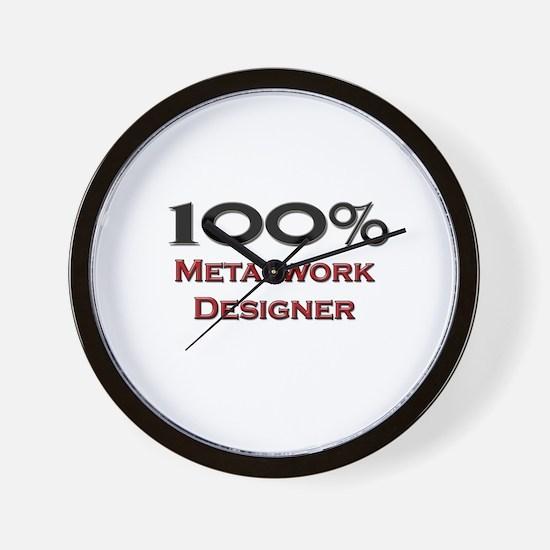 100 Percent Metalwork Designer Wall Clock