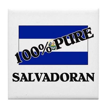 100 Percent SALVADORAN Tile Coaster
