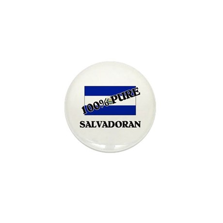 100 Percent SALVADORAN Mini Button