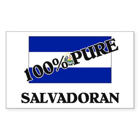 100 Percent SALVADORAN Rectangle Sticker