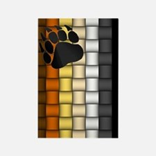 VERTICAL BEAR PRIDE FLAG/WEAVE Rectangle Magnet