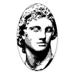 MACEDONIA Oval Sticker (50 pk)