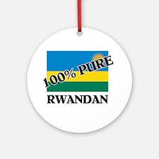 100 Percent RWANDAN Ornament (Round)