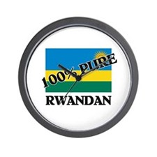 100 Percent RWANDAN Wall Clock
