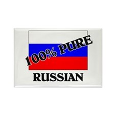 100 Percent RUSSIAN Rectangle Magnet
