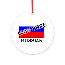 100 Percent RUSSIAN Ornament (Round)