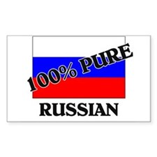 100 Percent RUSSIAN Rectangle Decal