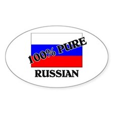 100 Percent RUSSIAN Oval Decal