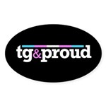 Tg&proud Oval Sticker (10 pk)