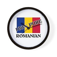 100 Percent ROMANIAN Wall Clock