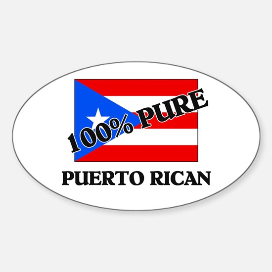 100 Percent PUERTO RICAN Oval Decal