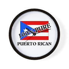 100 Percent PUERTO RICAN Wall Clock