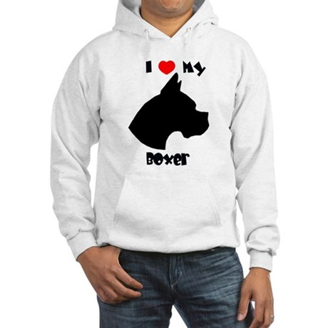 I Heart My Boxer Hooded Sweatshirt