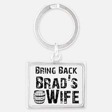 Funny Brad Landscape Keychain