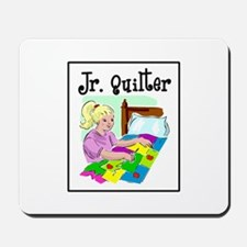 Future Quilter - Girl Sewing Mousepad