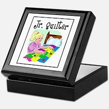 Future Quilter - Girl Sewing Keepsake Box