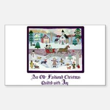 Quilted Christmas - Quilting Rectangle Decal