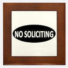 No Soliciting Framed Tile