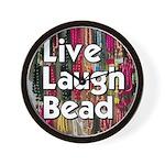 Live Laugh Bead Wall Clock