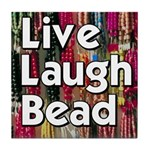 Live Laugh Bead Tile Coaster