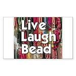 Live Laugh Bead Rectangle Sticker