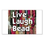 Live Laugh Bead Rectangle Sticker 10 pk)