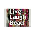Live Laugh Bead Rectangle Magnet (100 pack)