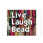 Live Laugh Bead Postcards (Package of 8)