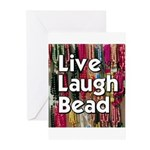 Live Laugh Bead Greeting Cards (Pk of 10)