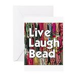 Live Laugh Bead Greeting Card
