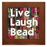 Live Laugh Bead Framed Tile
