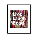 Live Laugh Bead Framed Panel Print