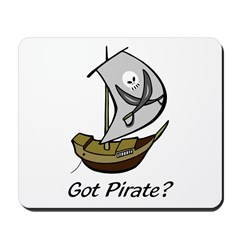Pirate Sailboat Mousepad