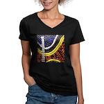 I Love Beadwork - Beads Women's V-Neck Dark T-Shir
